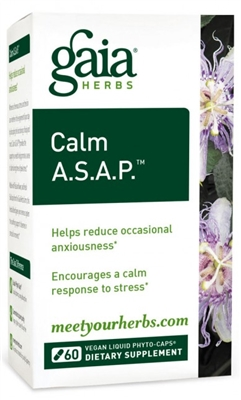 "Calm A.S.A.P.â""¢: Bottle / Vegan Liquid Phyto-Caps: 30 Capsules"