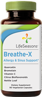 "Breathe-Xâ""¢ Allergy & Sinus Support, Trial Size: Bottle / Vegetarian Capsules: 15 Capsules"