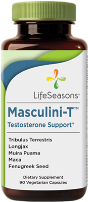 "Masculini-Tâ""¢ Testosterone Support Trial Size: Bottle / Vegetarian Capsules: 15 Capsules"