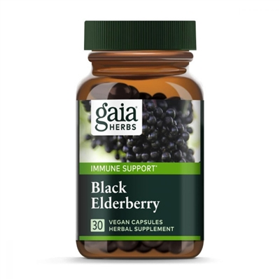 Black Elderberry Vegan Capsules, 30 count