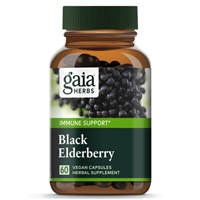 Black Elderberry Vegan Capsules, 60 count