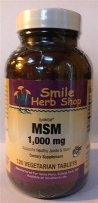 OptiMSM 1000mg: Bottle / Capsules: 120 Vegetarian Capsules
