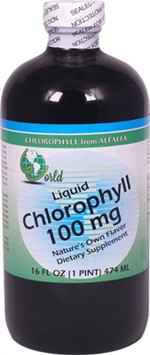 Liquid Chlorophyll, 100 mg: Bottle / Liquid: 16 Fluid Ounces