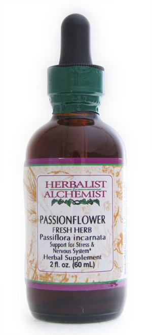 Passionflower: Dropper Bottle / Organic Alcohol Extract: 1 Fluid Ounce