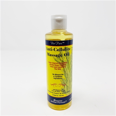 Anti-Cellulite Massage Oil: Bottle / Oil: 8 Fluid Ounces