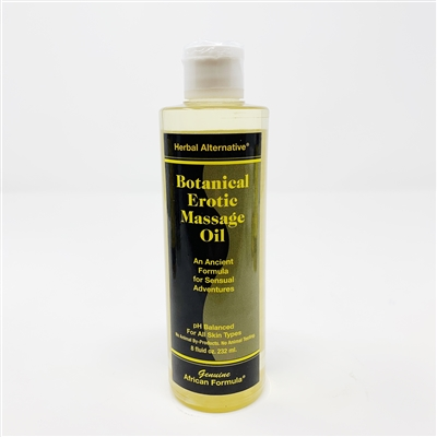 Botanical Erotic Massage Oil: Bottle / Oil: 6 Fluid Ounces