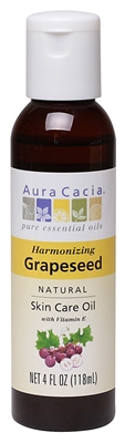 Grapeseed Oil: Bottle / Skin Care Oil: 4 Fluid Ounces