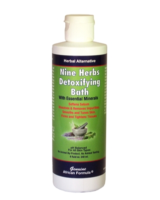 Nine Herbs Detoxifying Bath: Bottle: 8 Fluid Ounces