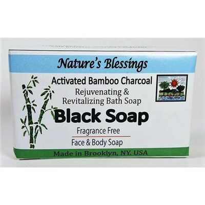 Nature's Blessing Black Bar Soap Fragrance Free