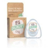 Dr Ginger's Coconut Oil Xylitol Activated Charcoal Floss