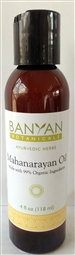 99% Organic Mahanarayan Oil: Bottle / Liquid Oil: 4 Fluid Ounces
