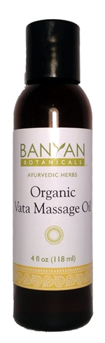 Vata Massage Oil: Bottle / Liquid Oil: 4 Fluid Ounces