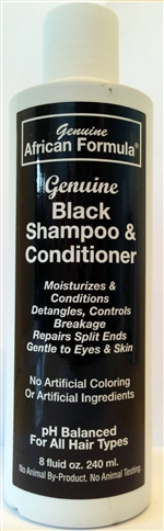 Black Shampoo and Conditioner: Bottle: 8 Fluid Ounces