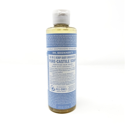 Dr. Bronner's Pure-Castile Liquid Soap : Baby Unscented, 8oz
