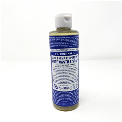 Dr. Bronner's Pure-Castile Liquid Soap : Peppermint, 8oz