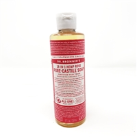 Dr. Bronner's Pure-Castile Liquid Soap : Rose, 8oz