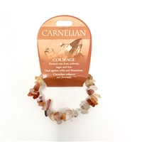 Carnelian Chip Bracelet : Courage