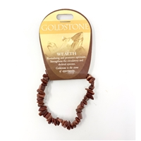 Goldstone Chip Bracelet : Wealth