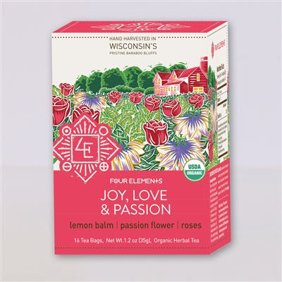 Organic Joy, Love & Passion Tea: Boxed Tea / Individual Tea Bags: 16 Bags