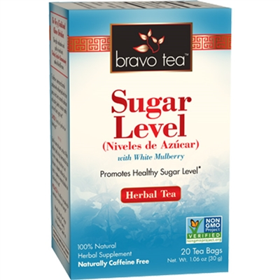 Sugar Level Boxed Tea / Individual Tea Bags: 20 Bags