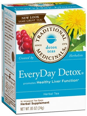 EveryDay Detox: Boxed Tea / Individual Tea Bags: 16 Bags