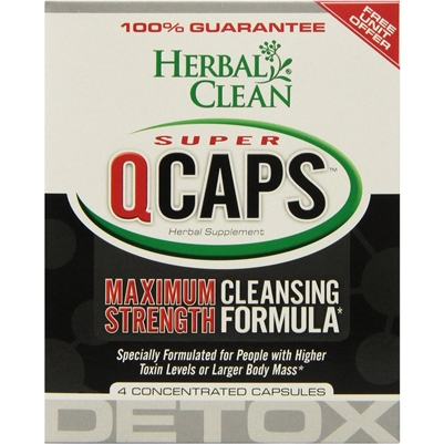 Herbal Clean Super QCaps: Bottle /Capsules: 4 Capsules