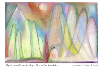 HEALING CARD: Mysterious Companionship - Fire in the Mountains