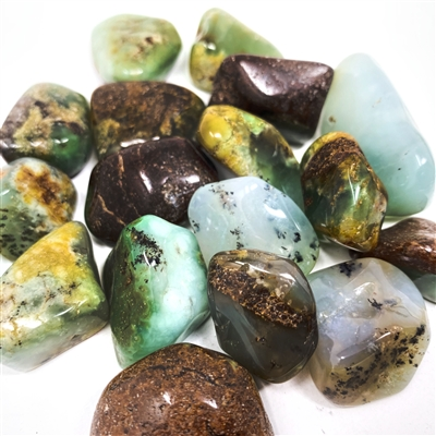 Chrysoprase, tumbled