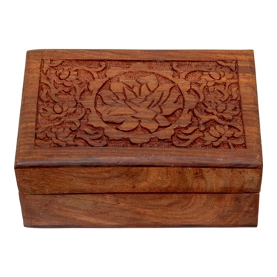 Wooden Box : Lotus