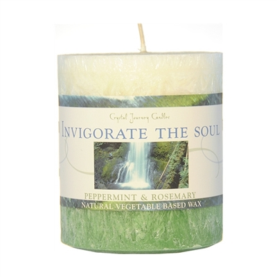 Pillar Candle // Vegetable-Based Wax : Invigorate The Soul