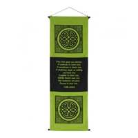 "Hanging Banner : Celtic Prayer ""May God Grant You"""