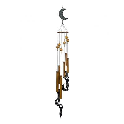 Moon Goddess Hanging Bamboo Wind Chimes
