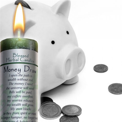 Money Draw Candle
