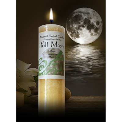Drawing Down the Moon Pillar Candle -- Full Moon
