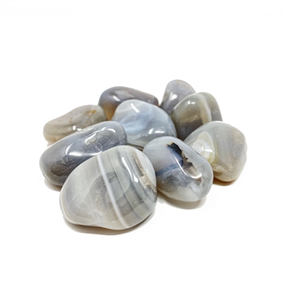 Banded Agate, tumbled