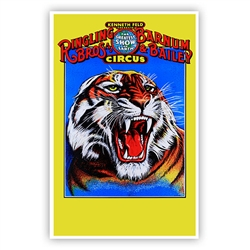 Ringling Bros. and Barnum & Bailey Tiger Head Poster