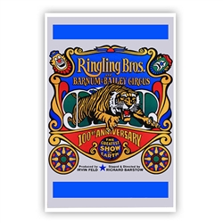 Ringling Bros. and Barnum & Bailey 100th  Anniversary Poster