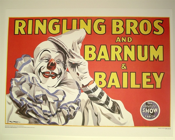 Antique Clown Poster