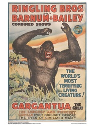 Ringling The Great Gargantua Poster
