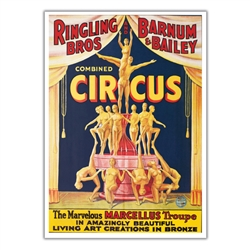 Ringling The Marvelous Marcellus Troupe Poster
