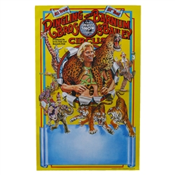 Gunther with Leopard Poster - 111th Circus