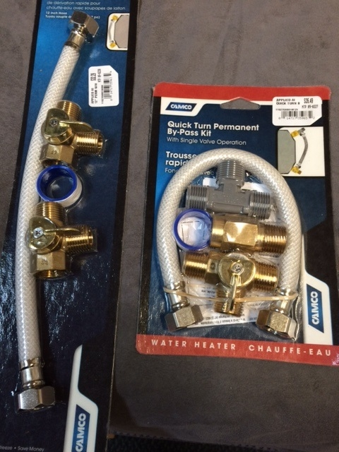 WATER HEATER BY PASS KIT WITH BRASS VALVES