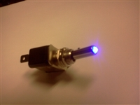BLUE LED LIT TOGGLE SWITCH