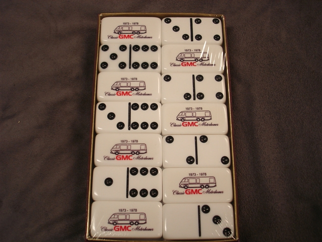 1 Set of Professional Extra Thick Dominoes - GMC Motorhome