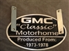 LICENSE PLATE PLAQUE HOLDER - GMC MOTORHOME