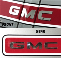 GMC Front and Rear Letters