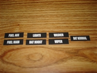 GMC MOTORHOME DASH LABELS