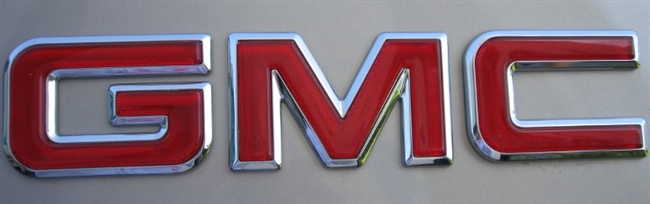 GMC LETTERING RED