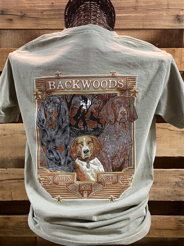 Backwoods Born & Raised Coon Dog Scene