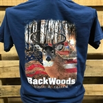 Backwoods Born & Raised Deer with American Flag